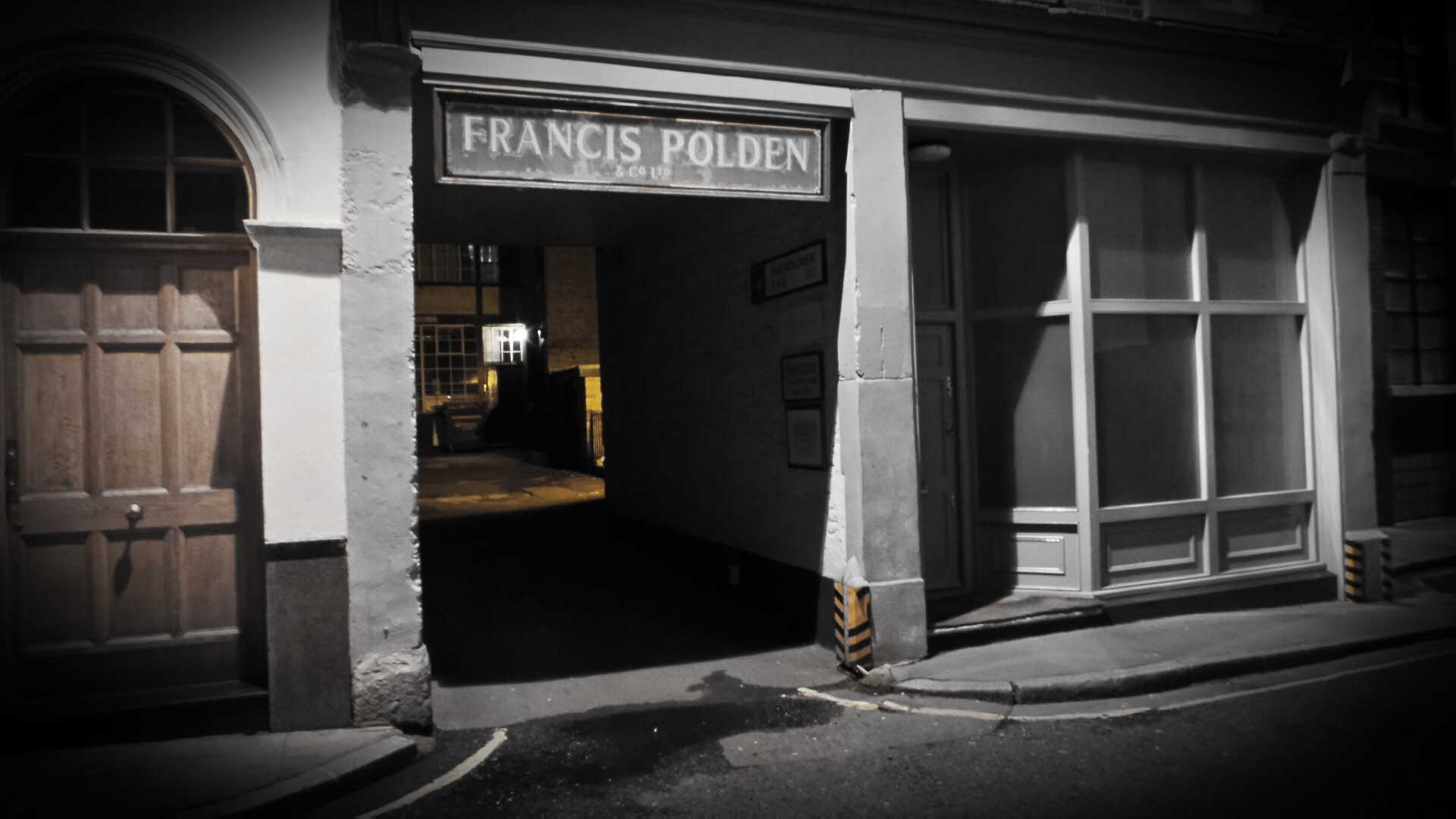 The sign for Francis Polden's premises.