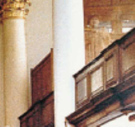 A photograph showing a ghost inside a London church.